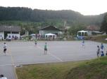 Pogled na igrišče in navijače med finalom
