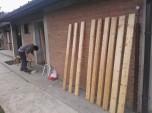 Barvanja lesenega dela klopi_2