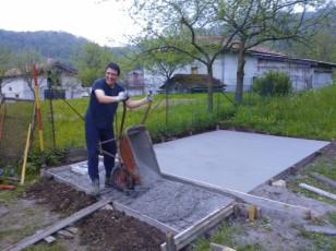 Betonaža plošče za postavitev lope_7