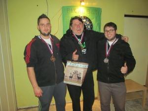 Najboljši trije na turnirju v pikadu