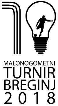 Logo 10. malonogometni turnir - Breginj 2018